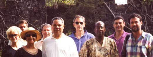 Colin Powell at Bunce Island, 1992